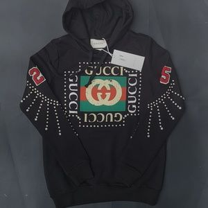 sweatshirt hoodie gucci black woman